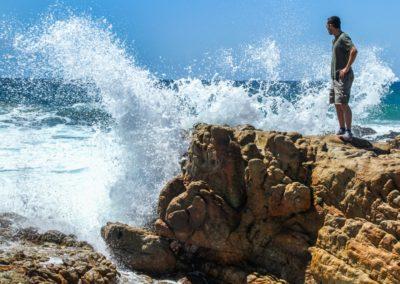 Die Kraft der Natur - an der Küste Südafrikas.