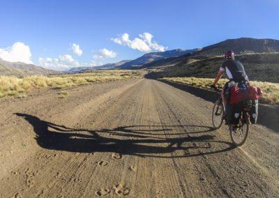 Mit dem Fahrrad in Argentinien.