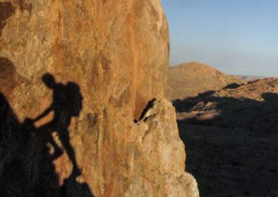 Klettertour in Namibia.
